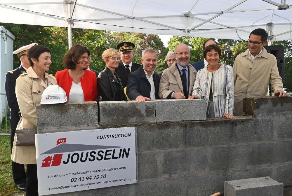 Pose de la première du futur bâtiment Centrale Nantes - ENSM