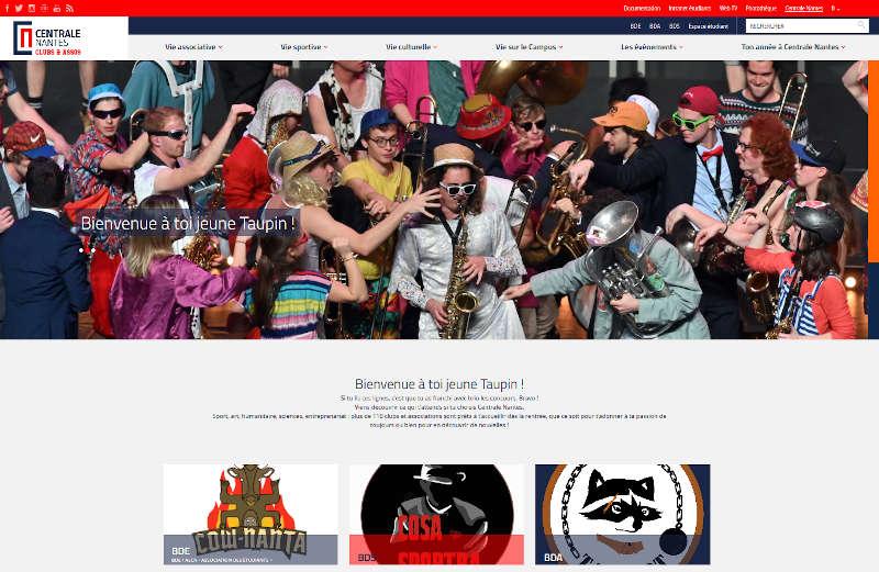 Capture d'écran du site alpha