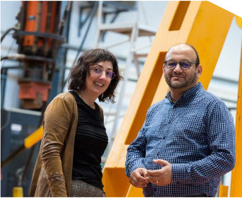 Estelle Breillat, Directrice Qualité et Développement EDYCEM et Ahmed Loukili, Titulaire de la Chaire de Recherche. Crédit photo : Charles Marion